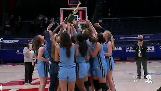 Mount Notre Dame basketball team wins the Division I state championship