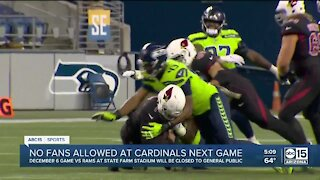 No fans allows at Cardinals games against the Rams