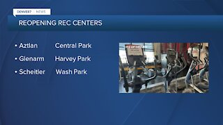 Denver reopening 6 rec centers today