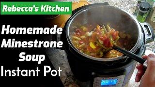 Minestrone Soup Recipe Vegetarian Instant Pot/ Rebecca's Kitchen