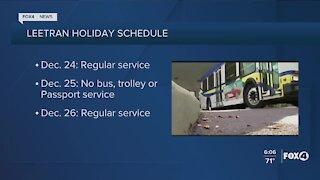 LeeTran holiday schedule