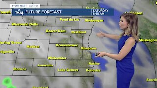 Mild Saturday with slight chance of southern showers