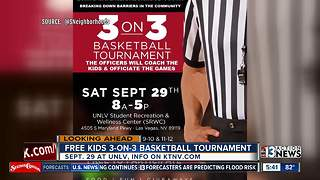 Basketball tournament with Vegas police