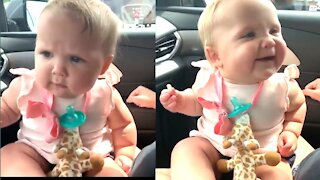 Watch the exact moment this baby literally sings himself to sleepute babies