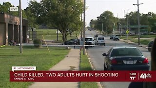 Child killed, 2 adults hurt in shooting