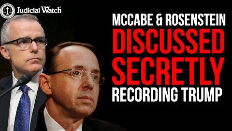 COUP CORRUPTION: McCabe FBI Memo Describes COUP Plot Against Trump
