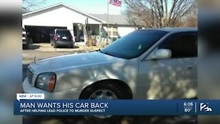 North Tulsa man wants vehicle back after leading police to murder arrest