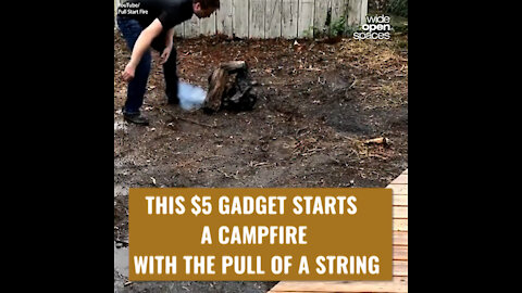 PULL START FIRE: THIS $5 GADGET STARTS A CAMPFIRE WITH THE PULL OF A STRING