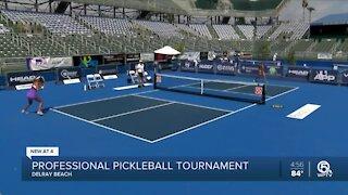 Professional pickleball tournament kicks off in Delray Beach