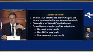 Gov. Cuomo: We're Going After For Profit Nursing Homes