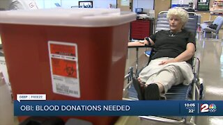 Oklahoma Blood Institute issues emergency call for blood donations