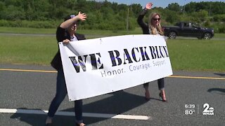 Support for law enforcement at We Back the Blue Rally in Dundalk