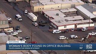 Woman's body found inside office building in Phoenix