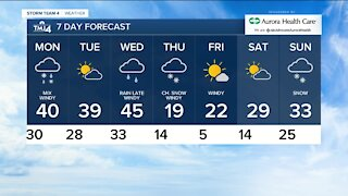 Light snow expected for Monday morning