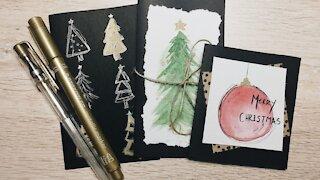 Watercolour Christmas Cards // Episode 34