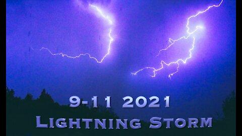 9-11 2021 Lightning Storm in 4K