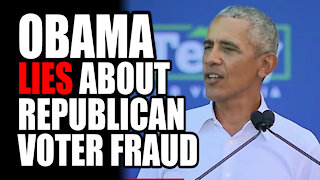 Obama LIES About Republican Voter Fraud