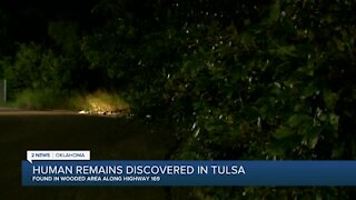 POLICE INVESTIGATING HUMAN REMAINS FOUND IN WOODED AREA ALONG HWY 169