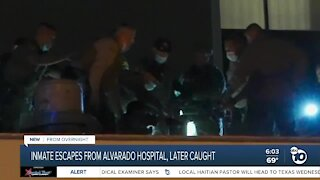 Inmate escapes from San Diego hospital, later arrested on roof