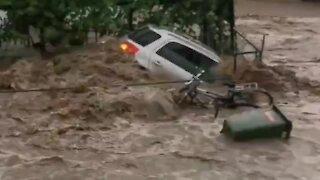 Disastrous flooding causes massive damage in Salzburg, Austria