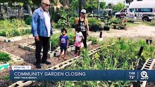 Community garden closing in West Palm Beach