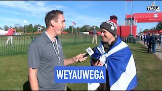 European fans at Ryder Cup try pronouncing Wisconsin town names
