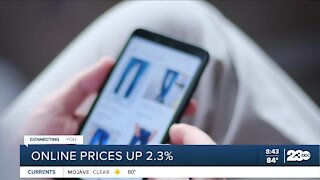 Online prices up 2.3%