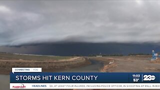 An overview of Monday's storm in Kern County