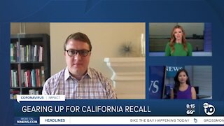 Gearing up for the California recall