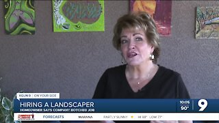 Tucson woman says landscaper botched job