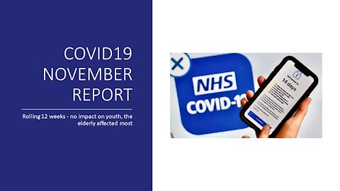 Covid19 November Report Rolling 12 Weeks (Since 3rd Sept.), No Real Impact On Youth