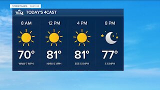 Southeast Wisconsin weather: Sunny, cooler, and less humid Monday