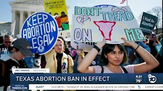 Texas abortion ban goes into effect