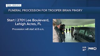 FHP procession for fallen Officer