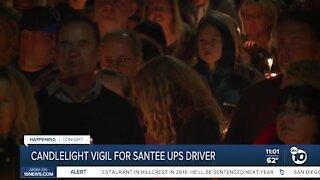 Candlelight vigil for SAntee UPS driver