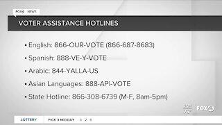 Voter assistance hotline numbers for Southwest Florida