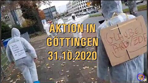 AKTION IN GÖTTINGEN (31.10.2020).