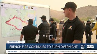 French fire grows overnight