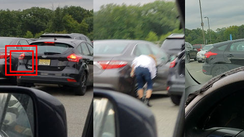 Woman Takes Ridiculously Long To Pull Out Of Parking Space, Smashes Car, And Casually Drives Away