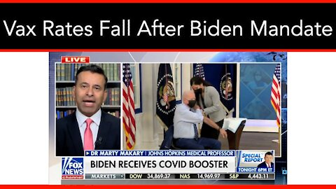 Vaccination Rates Fell By 20% After Biden Pushed For Vaccine Mandates