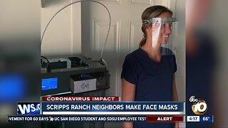 Scripps Ranch neighbors make face masks