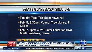 Colorado reviewing 5-year big game season structure