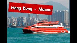 FERRY HONG KONG - MACAU SEA SEEN FROM WITHIN