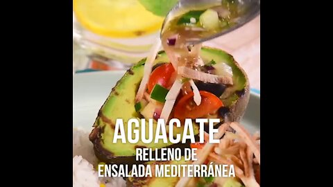 Avocados Filled with Mediterranean Salad
