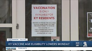 KY vaccine eligibility lowers Monday