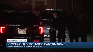 8-year-old shot inside Canton home