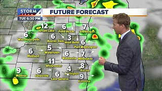 Storms move in Tuesday afternoon