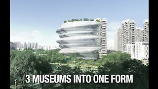3 Museums become One form - Archlay made from Idea of Chinese Pottery