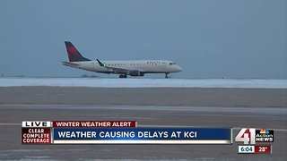Weather causing delays at KCI