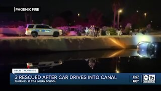 Three people were rescued from a Phoenix canal